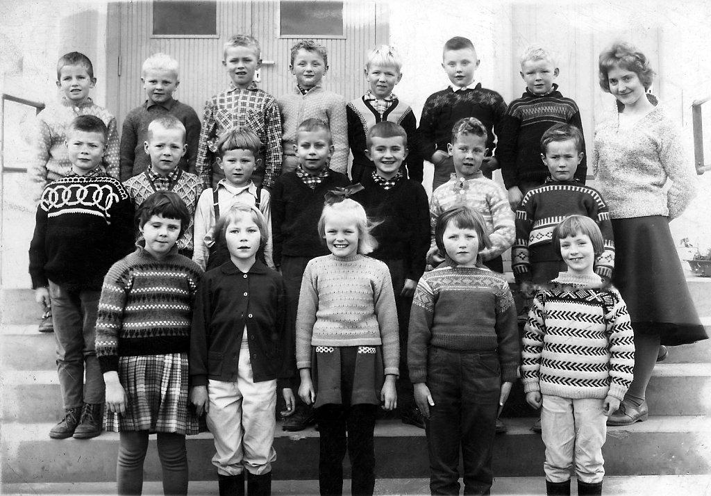 Leren skole, Første klasse 1961-1962